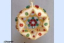 Beaded Christmas Ornament Patterns / by Bead-Patterns (Sova-Enterprises.com)