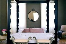 Bedroom Love / Bedrooms can be so fun (for many reasons) - I'd be happy to spend time in any of these....