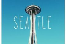 """S e a t t l e / """"All those ninnies have it wrong. The best thing about Seattle is the weather. The world over, people have ocean views. But across our ocean is Bainbridge Island, an evergreen curb, and over it the exploding, craggy, snow-scraped Olympics. I guess what I'm saying: I miss it, the mountains and the water.""""  ― Maria Semple, Where'd You Go, Bernadette / by s w a n p e t a l"""