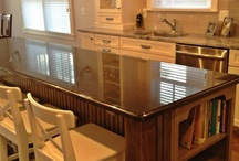 WHITE CABINETRY DESIGN WORK / Shades of white, creams, greys-designed by Kristen Shellenbarger