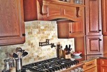 DARKER CABINETRY DESIGN WORK  / Some of my cabinetry designs using tones of wood- by Kristen Shellenbarger