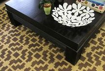 Stenciled Rug Love / Why spend a fortune when you can stencil your way to a great rug?