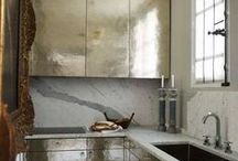 Kitchen Love / I like my kitchens with a dose of glam....
