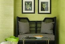 Green Room Love / To me, green is a universal neutral. In nature, it can work with any color and the same is true in a decor.