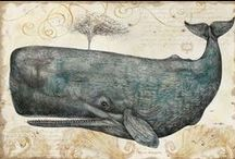 Creatures of the Sea / Inspiration for art assemblages