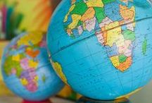 Earth / I adore maps and globes.
