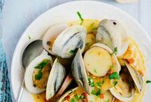 ♨ fish & seafood / fish, crustaceans, shellfish, just cooked in salads, stews, curries ► poisson, crustacés, coquillage, juste cuit, en salade, mijotés, en curry