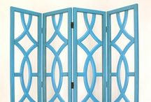 Room Dividers / Lovely ways to separate spaces or draw attention to a vignette.