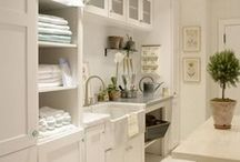 Laundry Rooms / Even the laundry room should be beautiful.