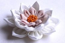 fabric flowers / by Deb Carr