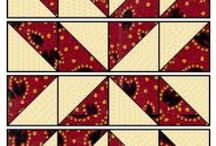 """Focus:Quilt Designs on Cards* / These handmade """"quilts"""" are made from paper, usually rectangles or squares (whole or cut corner to corner into triangles), that are arranged in a design & adhered to a paper mat (cardstock 5 1/4"""" x 4"""" for an A2 card). The piece can be embossed before or after it is attached to a card base. Stampin' Up's Square Lattice Folder is a popular embossing folder for use in a quilt card; use any embossing folder with a repeating pattern. Some cardmakers choose not to emboss their """"quilts."""""""