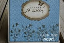 """Stamp:Pocket Silhouettes / These handmade cards feature Stampin' Up's """"Pocket Silhouettes"""" stamp set."""