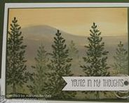 """Stamp:Lovely As A Tree* / These handmade cards feature Stampin' Up's """"Lovely As a Tree"""" stamp set."""