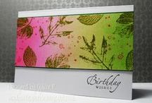 """Stamp:French Foliage* / These handmade cards feature Stampin' Up's """"French Foliage"""" stamp set."""