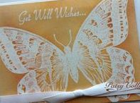 """Stamp:Swallowtail* / These handmade cards feature Stampin' Up's """"Swallowtail"""" stamp."""