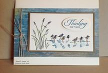 """Stamp:Wetlands* / These handmade cards feature stamps from Stampin' Up's """"Wetlands"""" stamp set."""