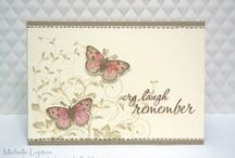 """Stamp:Leafy Vines / These handmade cards use the """"Leafy Vines"""" stamp by Hero Arts."""