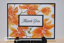 """Stamp:Large Blossom* / These handmade cards use the """"Large Blossom"""" stamp by Hero Arts (CG271)."""
