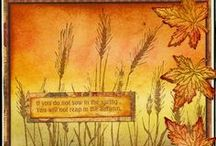 """Stamp:Tall Wheat* / Handmade cards using the stamp """"Tall Wheat"""" by Hero Arts or """"Silhouette Grass"""" by Hero Arts."""