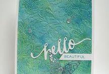 Medium:Gelatos on Cards / Handmade cards or techniques using Gelatos.