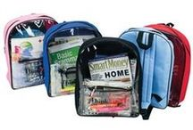 Clear Bags, Totes & Backpacks / Custom brand a logo on see through bags.  Great for security programs.  Ideal for airports, stadiums and schools.