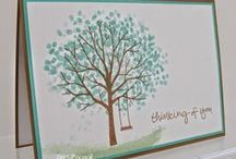 """Stamp:Sheltering Tree* / Handmade cards featuring stamps from """"Sheltering Tree"""" by Stampin' Up."""