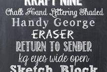 fonts / by kristie baldwin