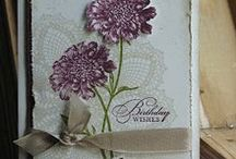 """Stamp:Hello Doily / Handmade cards featuring the stamp """"Hello Doily"""" by Stampin' Up."""