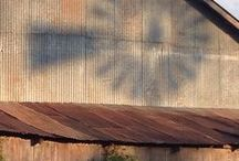 Old Barns ~ Rustic Cabins / I love old barns and lived in different cabins growing up. Barns were my playground as a child :-)
