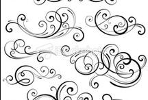 Simple line drawings