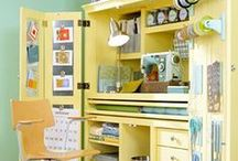 Craft Room Ideas / Craft Rooms, craft room storage, craft room organization, scrapbook rooms, craft rooms in small spaces.  Visit my other craft boards.  Visit my website for all things crafty.  www.psiloveyouscrapbooking.com
