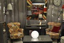 Ambiance industrielle / Pour aménager vos petits espaces, pensez au style industriel ! Grâce à des meubles aux multiples rangements, des luminaires en métal et des fauteuils club de la marque ALC Almansa qui vous propose un large choix de tissus et de fauteuil, vous obtiendrez un confort et un gain de place dans votre intérieur. Un bon mélange de couleurs chaudes et de meubles épurés, agrandira votre espace dans un style urbain et moderne.