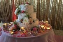 Wedding Reception Cakes & Desserts / Photos of yummy cakes and deserts at our gigs!