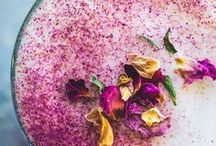 Rose Tea / The beauties and personality of the floral, powdery rose tea in colors, hues, textures and aromas captured in color palettes, fashion, art, lattes and food.