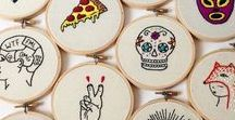 Embroidery / Embroidery hoop patterns, designs and inspiration.