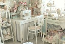 Sewing room and sewing table ideas