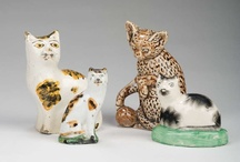 """Staffordshire Cats / Porcelain Cats Made in Staffordshire and other Locations throughout Great Britain, Circa 1750-1880. Commonly Referred to as """"Staffordshire Cats"""".  / by Jonathan B. Pons"""