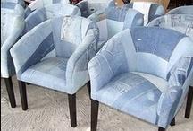 Jeans chairs ideas - poltronas