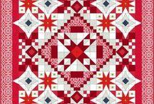 Patchwork - červená