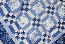 Patchwork - modrá