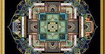 Mandala / Mandaly vyšívané, patchworkové, kreslené, sypané,návrhy, náčrtky...