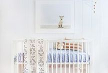 Nursery / Nursery Pink Blush Blue White Baby Room Kid