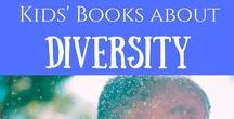 Kids Books about Diversity / Children's / kids books about diversity - be it body types and features, culture, beliefs, etc. www.raisingmom.ca email Erin {at} raisingmom.ca to join!