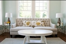 Throw pillows / I love how throw pillows can really add color to a dull room!