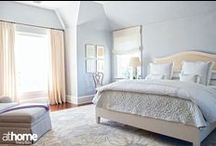 Beautiful Bedrooms / Bedroom sets, decorative pillows, bedside tables, lamps, headboards, paint colors: tons of bedroom ideas all right here! / by athome Magazine