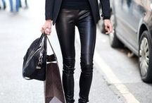 Leather Love / Our favorite streetstyle trend / by Graziela Gems