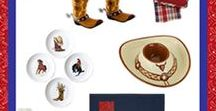 Western Theme Party Items / Western theme party goods and home decor.