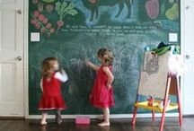 Chalkboard walls / by Laurie Holland