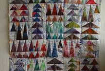 mijn  quilts en quilts die ik mooi vind. / werk veel met eigen geverfde stoffen/,
