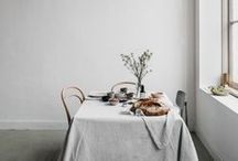 tables / The table is the focal point of everyday living. Inspiring ways to gather around them.